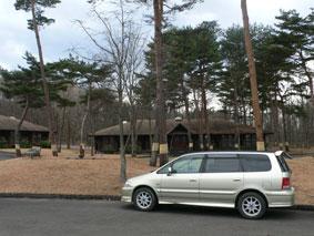 ログハウス形式の宿泊棟の様子。