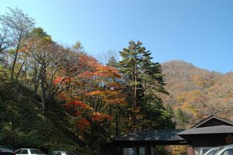 紅葉で大にぎわいの甲子温泉「大黒屋」