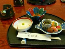 昼食付き日帰り温泉で利用した飯坂温泉・詠帰亭の食事