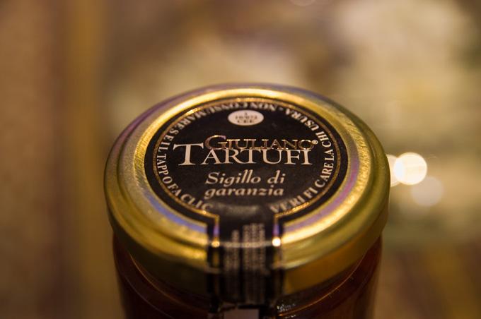 トリュフ風味のトマトソースのパスタ