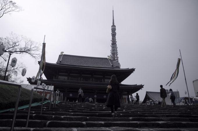 増上寺とタワー下から