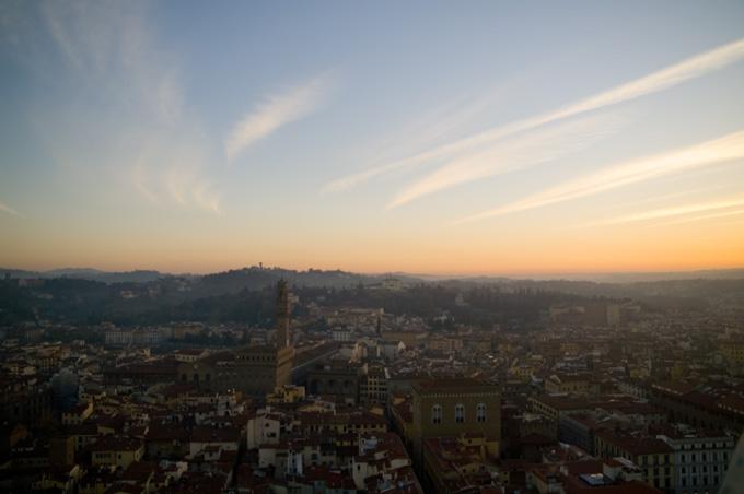 フィレンツェの夕暮れ