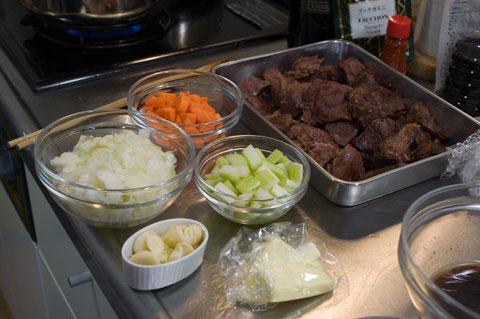 ブフ肉と野菜