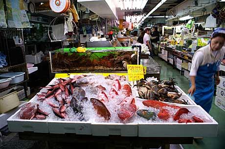 市場魚引き