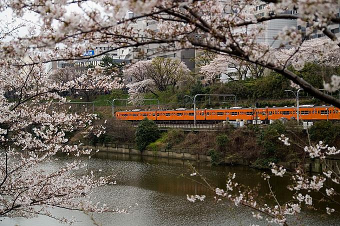 オレンジ列車横