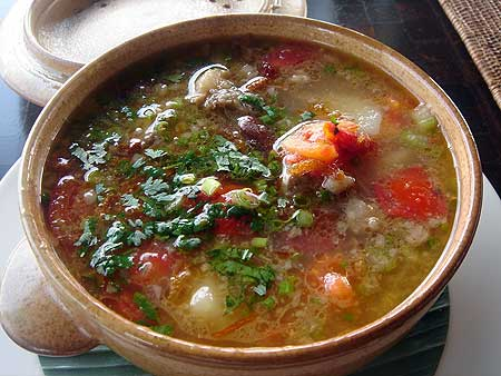 タナガジャスープ