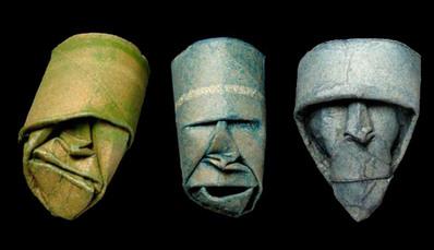 トイレットペーパーの芯で造った顔アート06