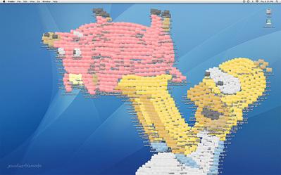 デスクトップ画面にアイコンを並べて描いたクリエイティブな絵04