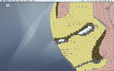 デスクトップ画面にアイコンを並べて描いたクリエイティブな絵05