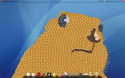 デスクトップ画面にアイコンを並べて描いたクリエイティブな絵07