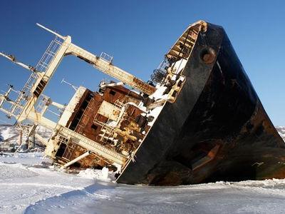 ロシアの難破船