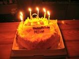 MIHOさんお誕生日