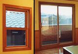 木製サッシペアガラス窓