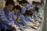 中国の工場ライン