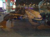 飛行機 夜間