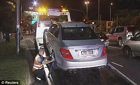 ハミルトンの車(メルセデス-ベンツC63 AMG)、豪州警察に押収される