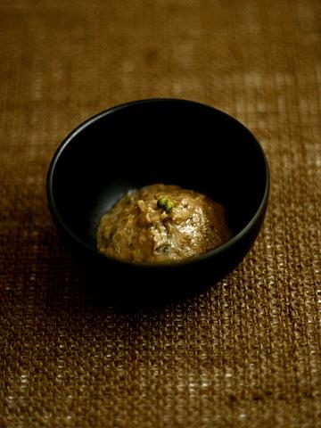 ウドの蕾味噌・実山椒入り