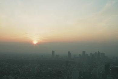 TOKYO CITY VIEWから日没