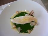 鯛のスピナッチソース