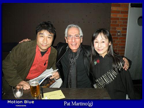 画像:Pat Martino(g), Tony Monaco(org), Scott Robinson(ds)2008年11月05日モーションブルー横浜にて