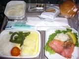 帰り機内食ディナー