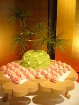和菓子のウェディングケーキ