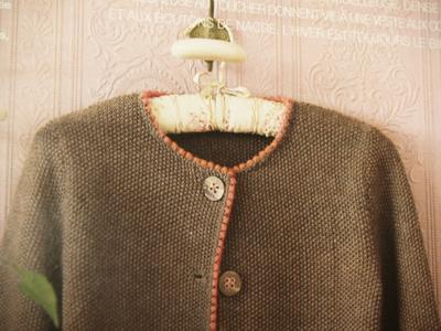 かのこ編みジャケット