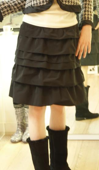 フーフォレの段々スカート 新作 14700円
