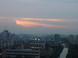 中国上海の綺麗な夕焼け.JPG