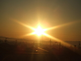 朝焼け 新幹線より.JPG