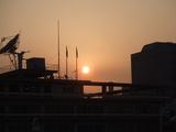 静岡駅から見えた夕日.JPG