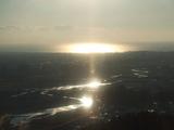 安倍川に反射した太陽.JPG