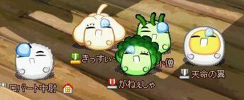 野菜居眠り集団