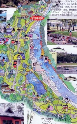 鳥野目河畔公園イラスト地図