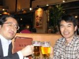 中山先生と乾杯