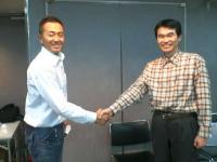 吉田先生と握手