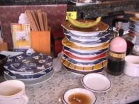 寿司を12皿食べました。
