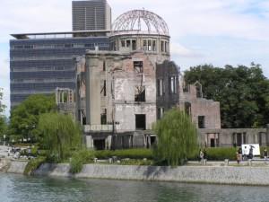 広島原爆ドーム:対岸から撮影