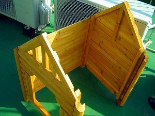犬小屋作成中1