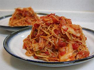 野菜トマトスパ