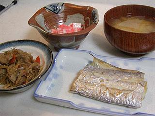 太刀魚、長芋、きんぴら