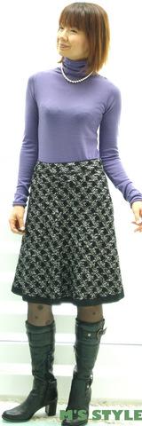 1 マリードールニット紫 ピエスのスカート