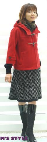 1 キャサリンハーネル コート 赤ショート