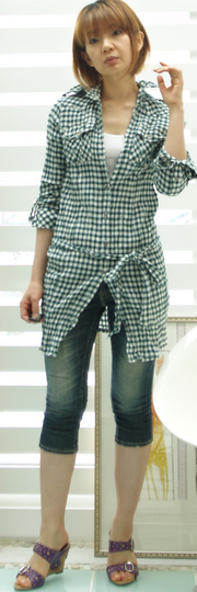 2 jetLabel シャツ 13650円 グリーン