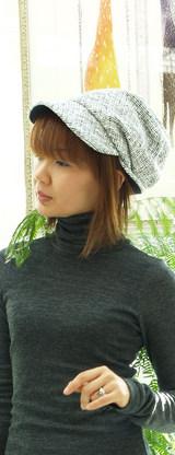 ana2スプリングツイード帽子a