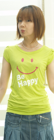 2 ニコちゃんTシャツ 黄緑 4900円