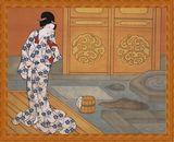 歌川国貞の大人のぬり絵 「湯上がり美人」原画