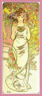 ミュシャの大人の塗り絵「花 ローズ」原画