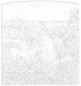ジョバンニ・セガンティーニ 「アルプスの真昼」ぬり絵