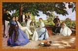 フレデリック・バジールの大人のぬり絵 「家族の集い」原画